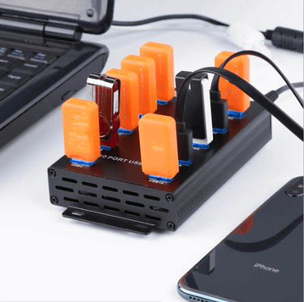 The Solution of LA-300 10 Ports USB HUB