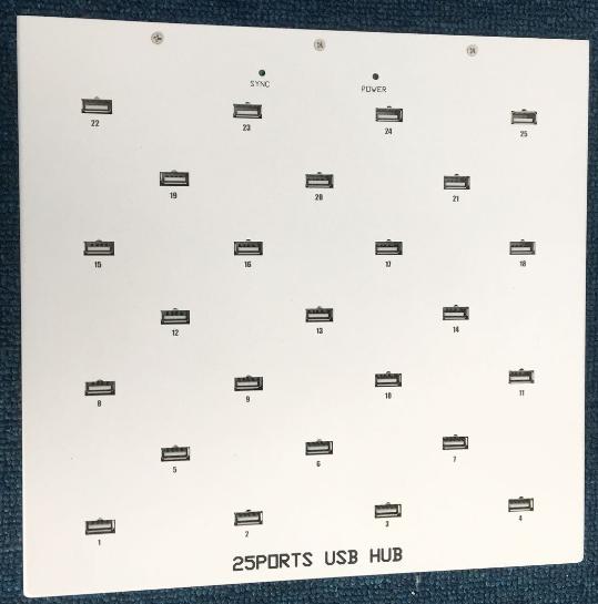 ODM Service 25 Ports USB HUB For USB Dongle( PCR TESTING KIT)