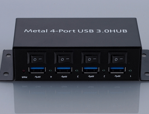 41.What is your highest capacity Multi-port USB Hub that is also capable of connecting with data?